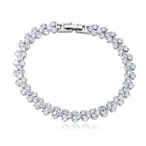 AAA Zircon Bracelet  Roman Bracelet Platinum NHKSE25960