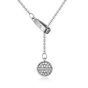 AAAlevel mosaic necklace  meaning provocative pull platinum NHKSE25908