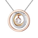 Imported imitated crystal necklace  lucky circle I wish youll have a good luck NHKSE25882