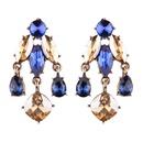 Alternative alloy Rhinestone earring blue  NHJQ8955blue