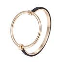Alloy Simple Geometric bracelet  Alloy + Black NHTF0047AlloyBlack