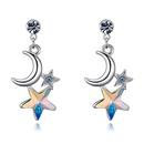 Austrian Imitated crystal Stud Earrings  Xingyue Yi Cai Color White NHKSE26283