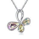 Austrian Imitated crystal Necklace  Butterfly Flying Luminous Green NHKSE26258