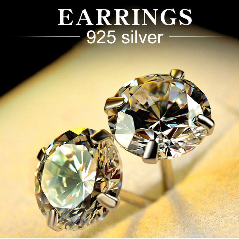 Simple alloy  earring (8MM with sterling alloy earplugs - 925 alloy)  NHLJ3362-8MM with sterling alloy earplugs - 925 alloy