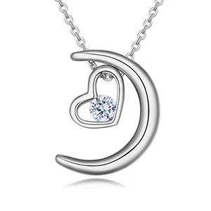 AAA grade mosaic necklace - heart month accompanied (platinum) NHKSE26146