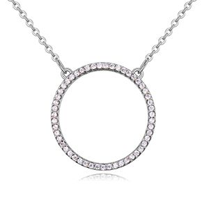 AAA grade mosaic necklace - classic ring (platinum) NHKSE26128