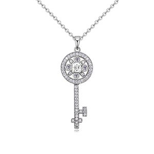 AAA-level mosaic necklace - flower spoon (platinum) NHKSE26125