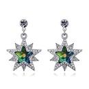 Austrian Imitated crystal Stud Earrings  Star Fantastic Dream Colorful NHKSE26213