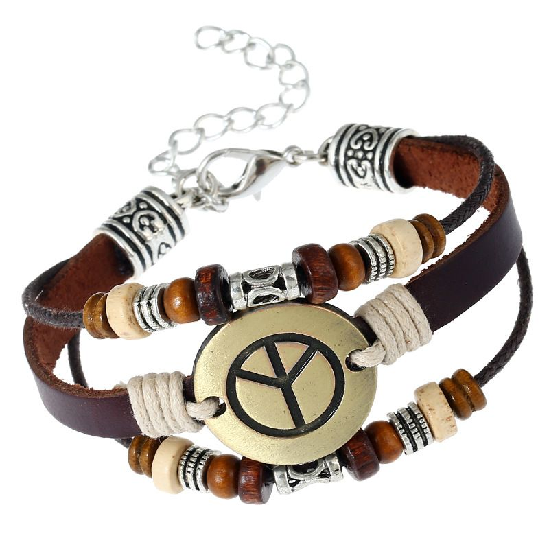 Occident and the United States Cortex  Bracelet (Lobster claw clasping peace sign)  NHNPK0901-Lobster claw clasping peace sign