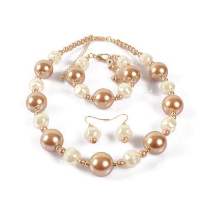 Occident and the United States beads  Jewelry Set (creamy-white)  NHCT0114-creamy-white