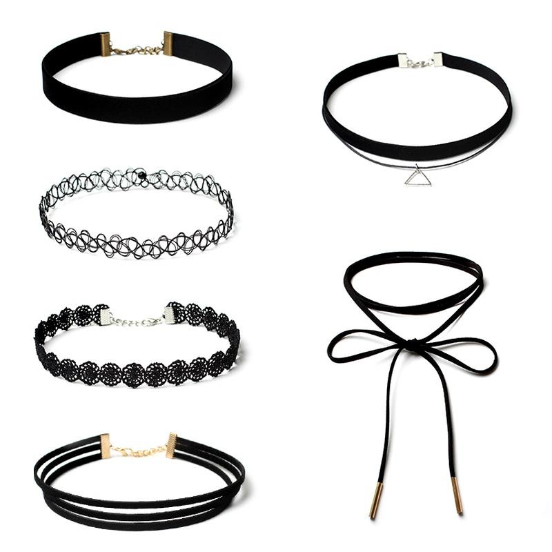 Simple beads  Jewelry Sets (black)  NHIM0768-black