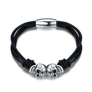 Simple other  Titanium steel bracelet (black)  NHIM0801-black's discount tags