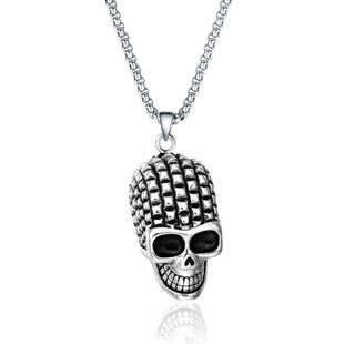 Simple metal plating Titanium steel necklace (Alloy)  NHIM0852-Alloy's discount tags