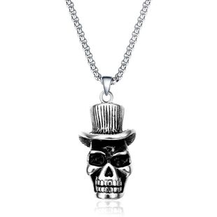 Simple metal plating Titanium steel necklace (Alloy)  NHIM0856-Alloy's discount tags