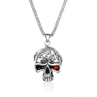 Simple metal plating Titanium steel necklace (Alloy)  NHIM0857-Alloy's discount tags