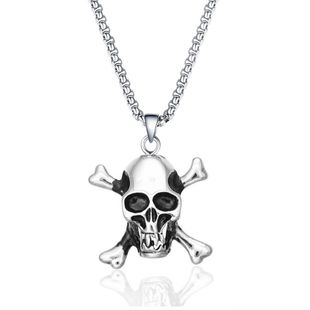Simple metal plating Titanium steel necklace (Alloy)  NHIM0860-Alloy's discount tags