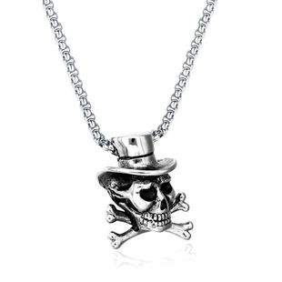 Simple metal plating Titanium steel necklace (Alloy)  NHIM0861-Alloy's discount tags