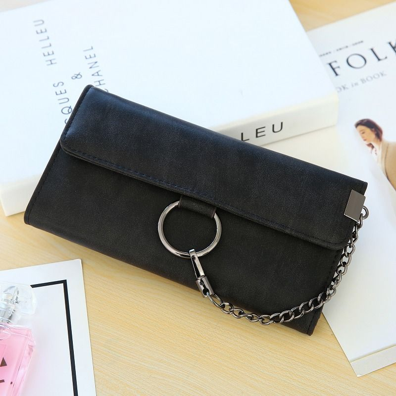 Korean version PU leather  wallet (black)  NHNI0312-black
