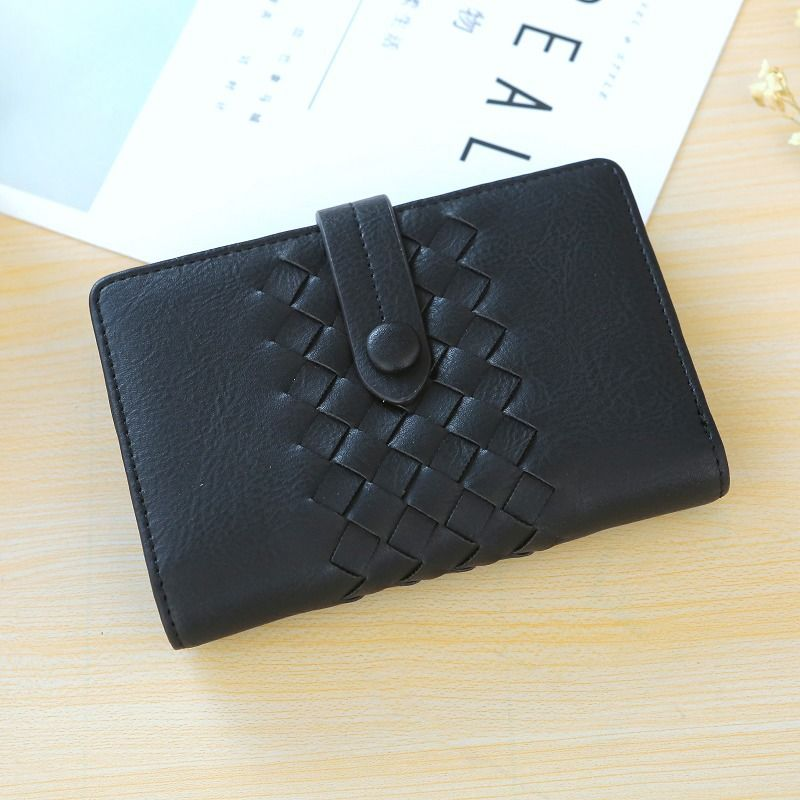 Korean version PU leather  wallet (black)  NHNI0314-black