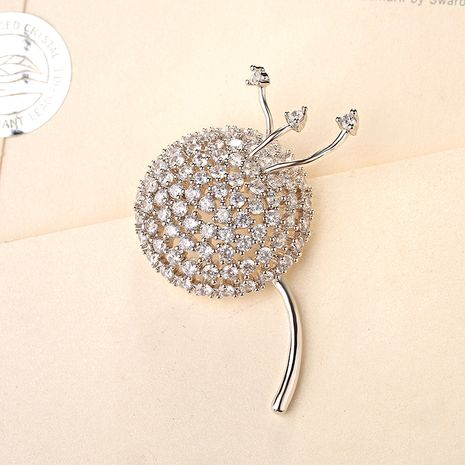 Fashion Alloy  BroochFlowers (White alloy)  NHLJ3430-White alloy's discount tags