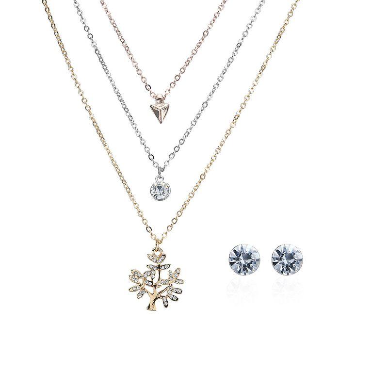 Korea Alloy Rhinestone Necklace (61178073)  NHXS1468-61178073