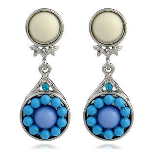 Other Alloy plating earring Geometric (White K-soil blue)  NHKQ1245-White K-soil blue's discount tags