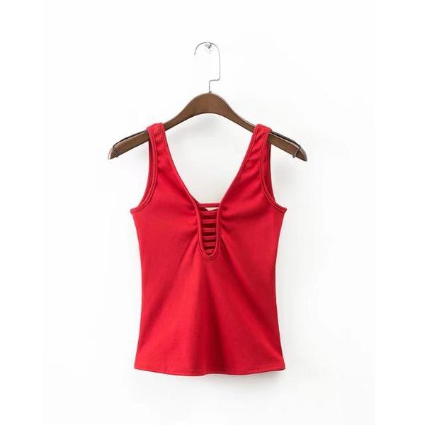 Cotton Fashion  vest  (Red-s) NHAM1535-Red-s