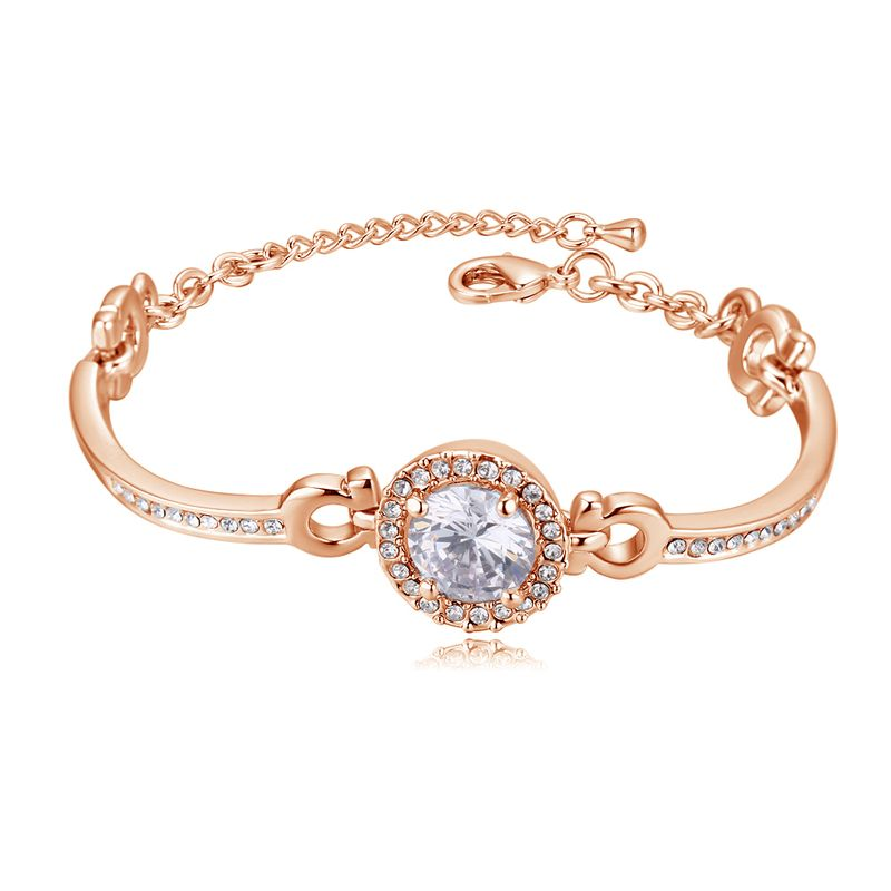 Korean fashion popular temperament zircon bracelet (rose alloy) NHNPS3805