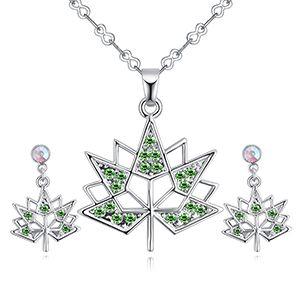 Imported Imitated crystal Set B - Maple Leaf Love (olive) NHKSE27138