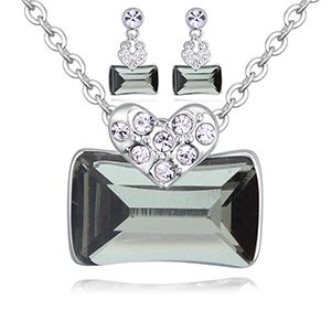Austrian Imitated crystal Set - Love Nest (Black Rhinestone) NHKSE27117