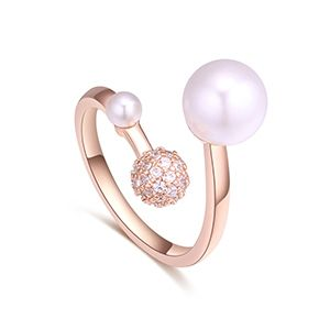 AAA Micro Ivory Ring - Love the secret language (rose alloy) NHKSE27237
