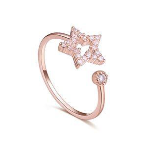 AAA Zircon Ring - Mobile Starlight (Rose Alloy) NHKSE27217
