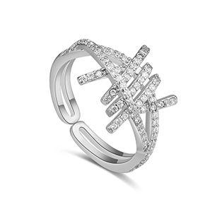 AAA zircon ring  Yixing dim platinum NHKSE27212