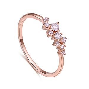 AAA Zircon Ring  Hell s Light Rose Alloy NHKSE27203