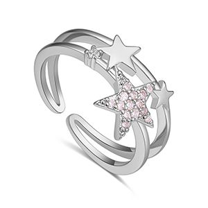 AAA CZ Ring - Star Constellation (Platinum) NHKSE27201