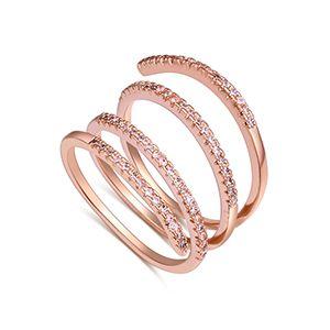 AAA Zircon Ring - Thumbwheel (Rose Alloy) NHKSE27193