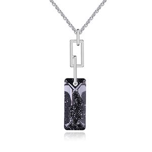 Austrian Imitated crystal Necklace - Rubik s Cube (Alloy Night Shadow) NHKSE27173