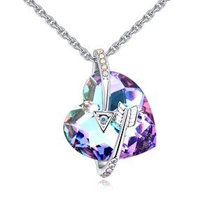 Austrian imitated crystal necklace - like arrow (purple) NHKSE27182