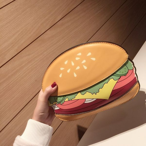 Cute PU  Shoulder Bags  (Burger)  NHSK0143-Burger