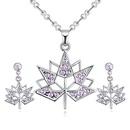 Imported Imitated crystal Set B  Maple Leaf Love olive NHKSE27138