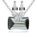 Austrian Imitated crystal Set  Love Nest Black Rhinestone NHKSE27117