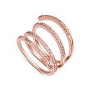 AAA Zircon Ring  Thumbwheel Rose Alloy NHKSE27193