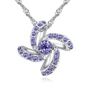 Austrian imitated crystal necklace  memory childhood color white NHKSE27181