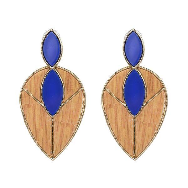 Plastic Fashion Geometric earring  (blue) NHJJ3960-blue