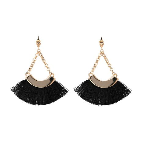 Alloy Vintage Geometric earring  (black) NHJJ3955-black's discount tags