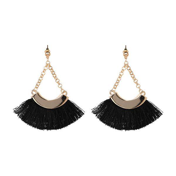 Alloy Vintage Geometric earring  (black) NHJJ3955-black