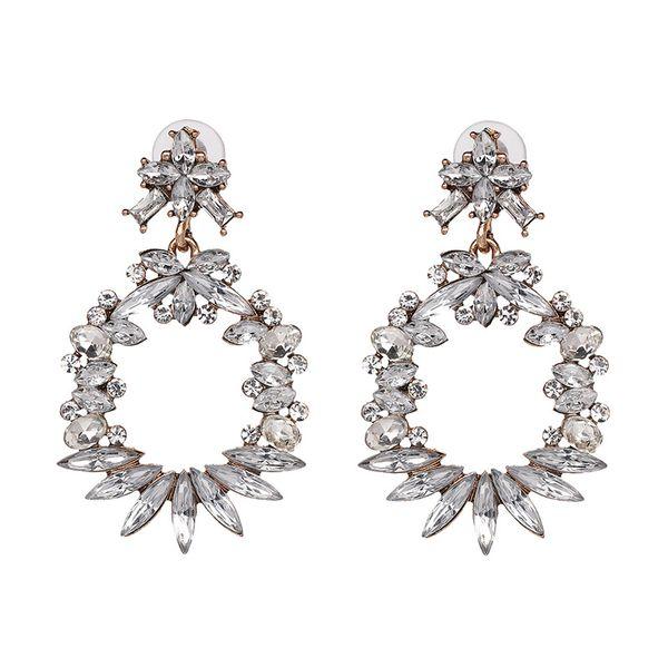 Plastic Fashion Flowers earring  (white) NHJJ3957-white