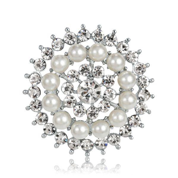 Alloy Korea Geometric brooch  (white) NHDR2368-white