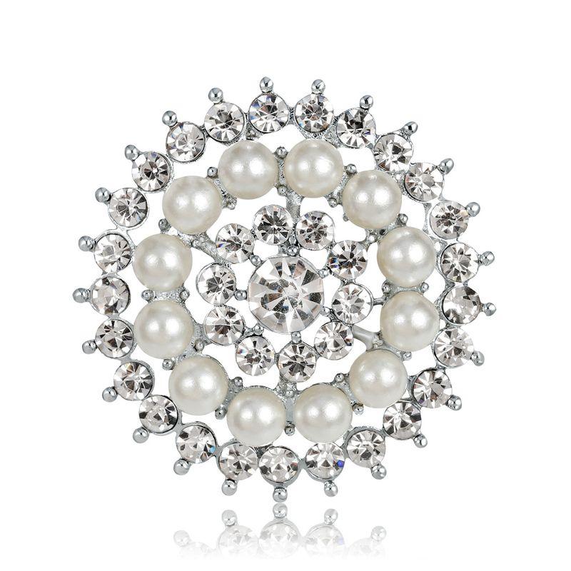 Broche gomtrique en alliage Core blanc NHDR2368blanc