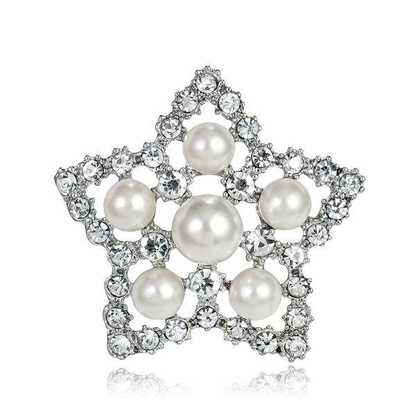 Alloy Korea Geometric brooch  (white) NHDR2369-white